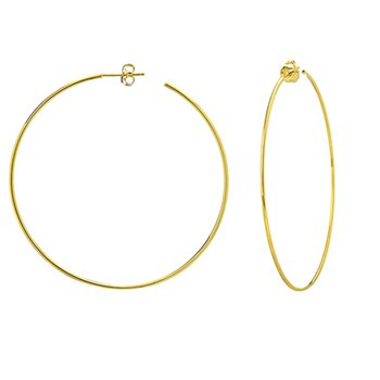 60mm Hoop Earrings in 14K Yellow Gold