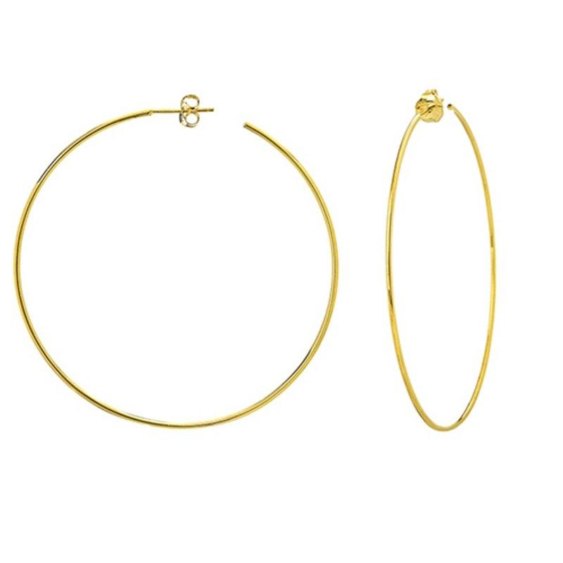 60mm Hoop Earrings in 14K Yellow Gold