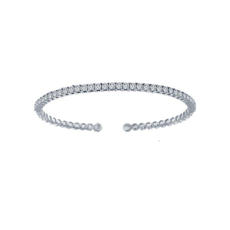 1 1/3ct tw NewBorn Lab Created Diamond Bangle Bracelet in 14K White Gold
