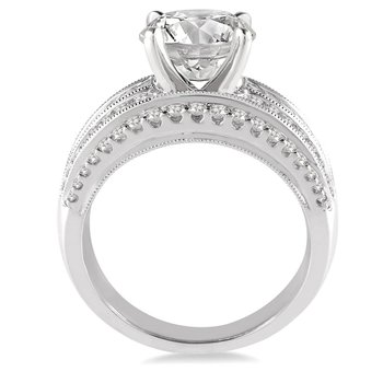 1 1/3ct tw Diamond Engagement Ring Setting in 14K White Gold