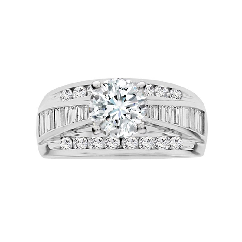 1 1/8ct tw Diamond Engagement Ring Setting in 14K White Gold