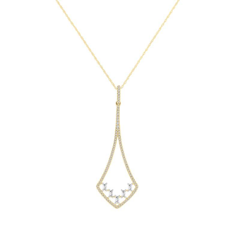 3/8ct tw Diamond Fashion Pendant in 14K Yellow Gold