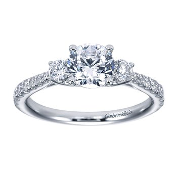 1 1/4ct tw Diamond Three Stone Engagement Ring in 14K White Gold