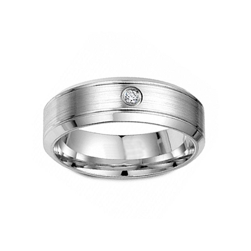 .04ct tw Diamond Wedding Ring in 14K White Gold