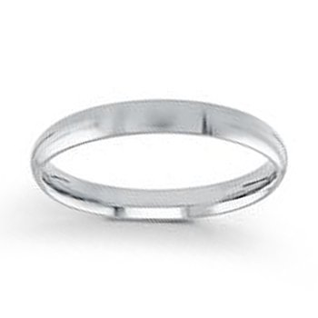 3mm Wedding Ring in 14K White Gold