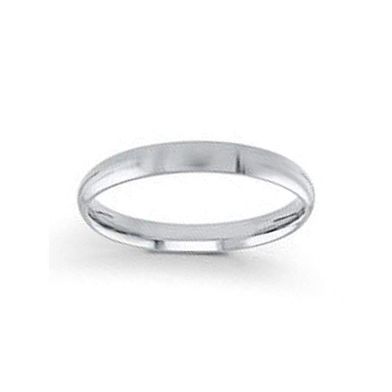 3mm Wedding Ring in 14K White Gold