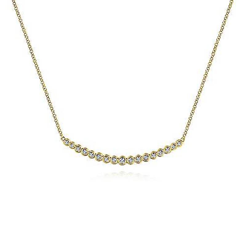 1/4ct tw Diamond Bar Necklace in 14K Yellow Gold