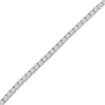 12 1/8ct tw NewBorn Lab Created Diamond Tennis Bracelet in 14K White Gold