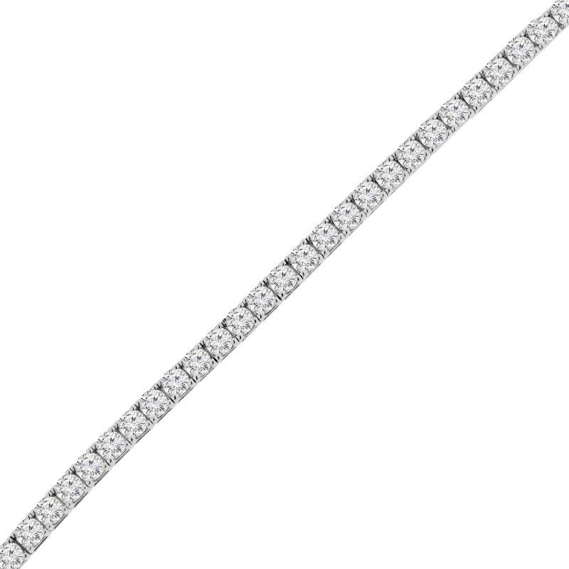 12 1/8ct tw NewBorn Lab Created Diamond Tennis Bracelet in 14K White Gold