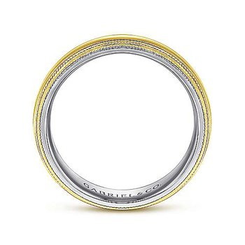 6mm Wedding Ring in 14K Yellow & White Gold