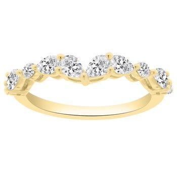 3/4ct tw NewBorn Lab Created Diamond Wedding Ring in 14K Yellow Gold