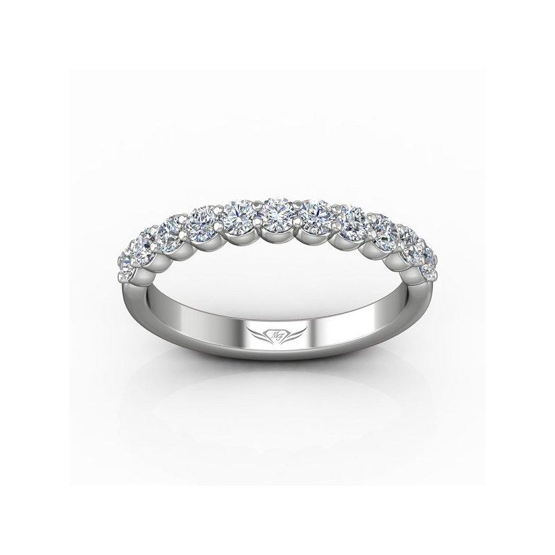 3/4ct tw Diamond Anniversary Ring in 14K White Gold
