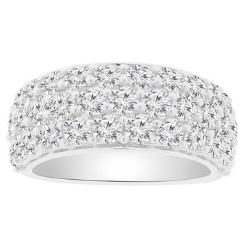 3ct tw NewBorn Lab Created Diamond Fashion Ring in 14K White Gold