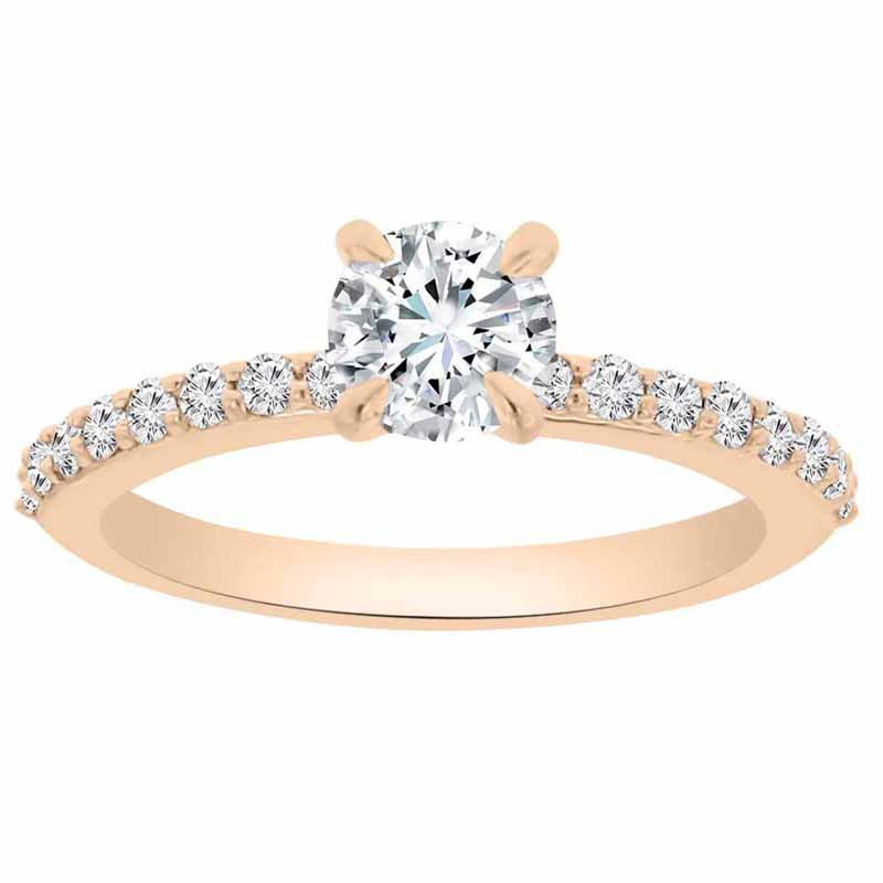 1ct tw NewBorn Lab Created Diamond Engagement Ring in 14K Rose Gold