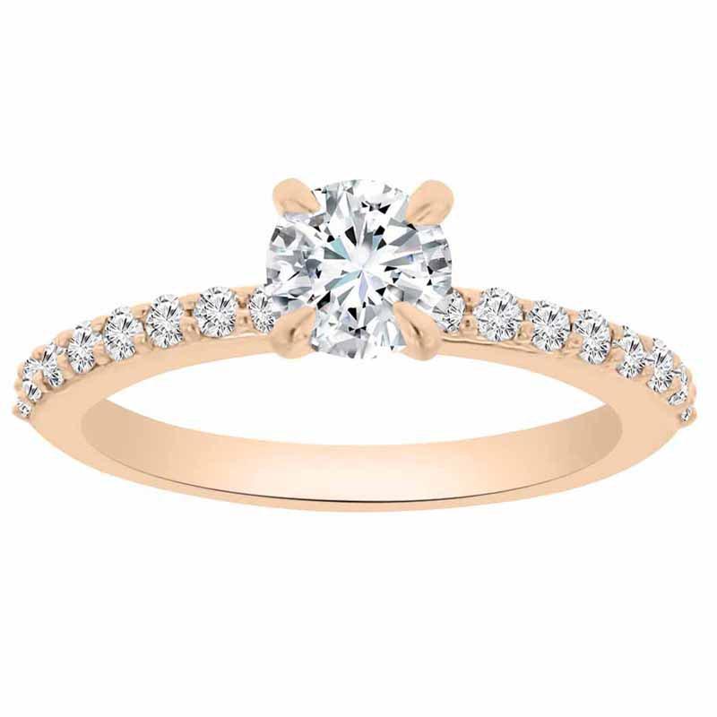 1ct tw NewBorn Lab Created Diamond Engagement Ring in 14K Rose Gold