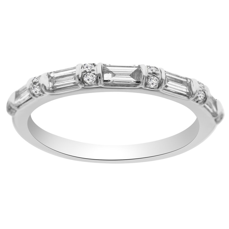1/3ct tw Diamond Stackable Ring in 18K White Gold