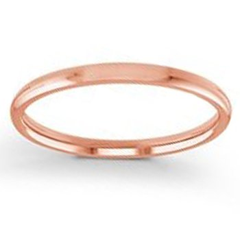2mm Wedding Ring in 14K Rose Gold