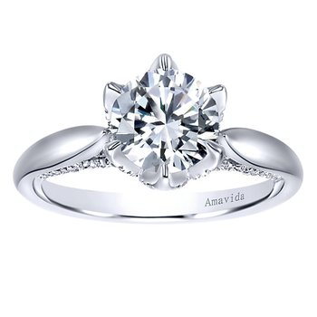2ct t w NewBorn Lab Created Diamond Engagement Ring in 18K White Gold