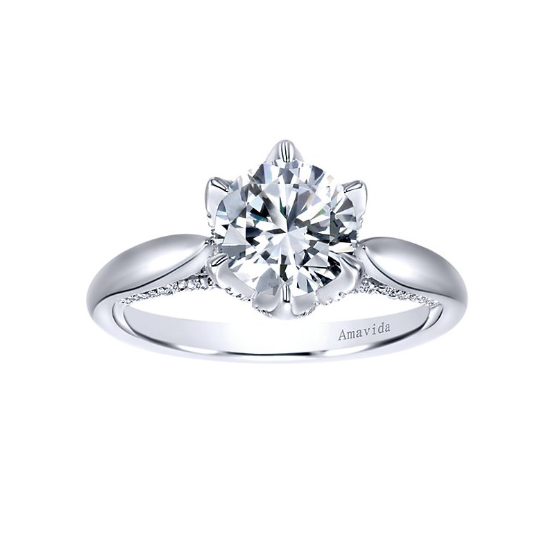 2ct t w NewBorn Lab Created Diamond Engagement Ring in 18K White Gold
