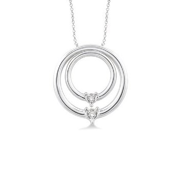 .05ct tw Diamond Me & You Necklace in Sterling Silver