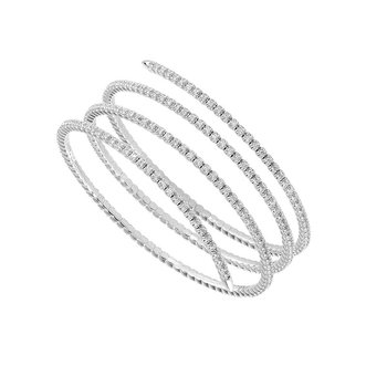 3 1/2ct tw Diamond Bangle Bracelet in 14K White Gold