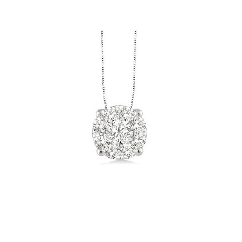 1/2ct tw Diamond Thousand Points of Light Solitaire Necklace