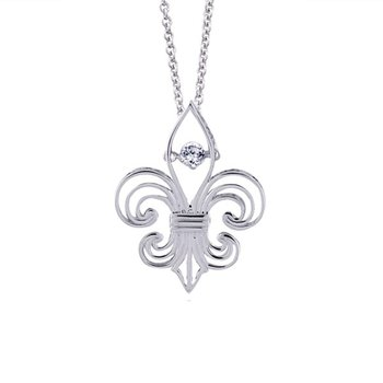 1/10ct tw Diamond Drop of Life Necklace in Sterling Silver