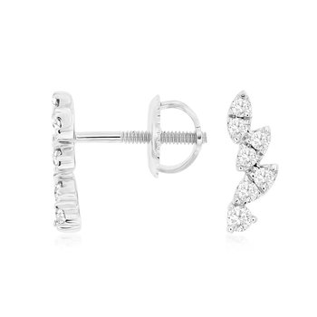 1/4ct tw Diamond Fashion Earrings in 14K White Gold