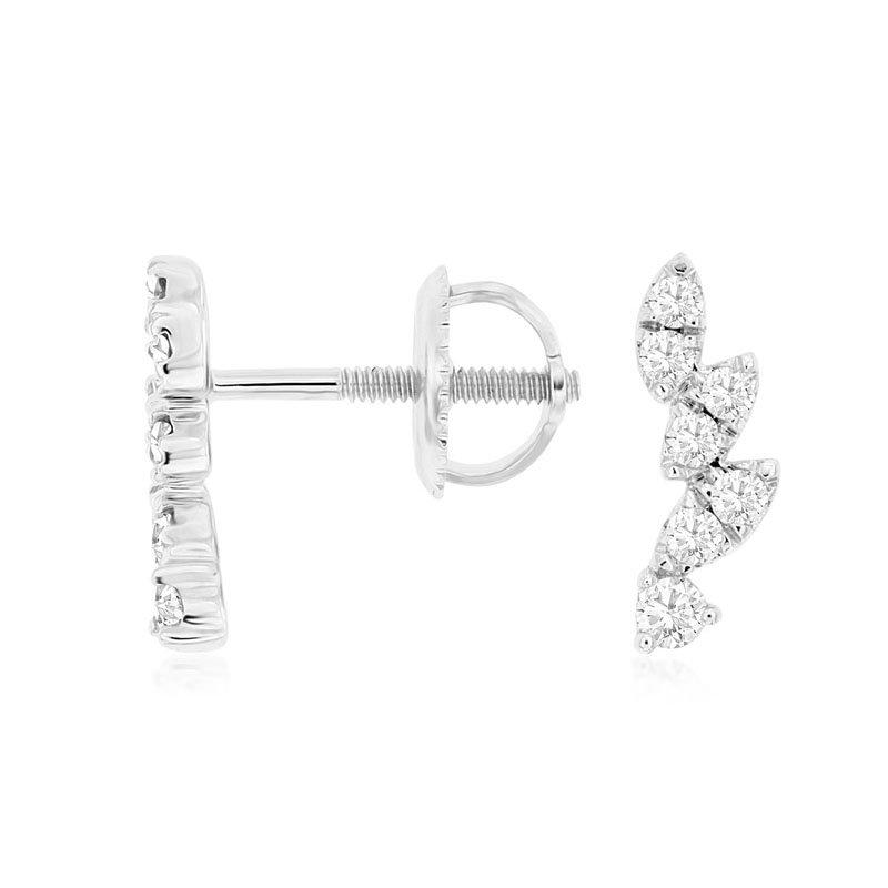 1/4ct tw Diamond Fashion Earrings in 14K White Gold