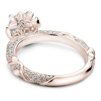 1/2ct tw Diamond Engagement Ring Setting in 14K Rose Gold