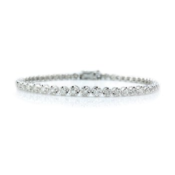 2ct tw Diamond Tennis Bracelet in Sterling Silver