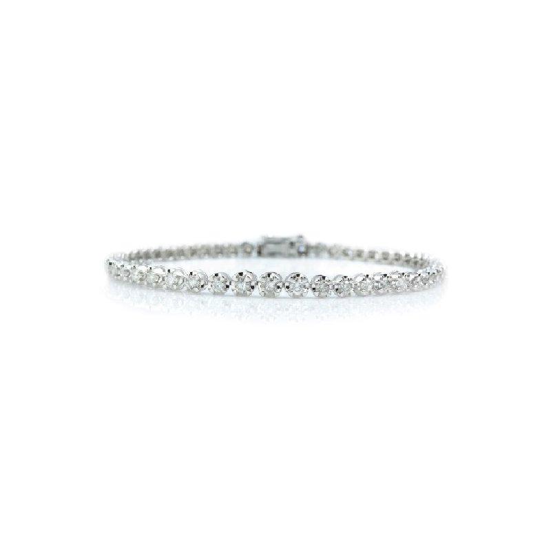 2ct tw Diamond Tennis Bracelet in Sterling Silver