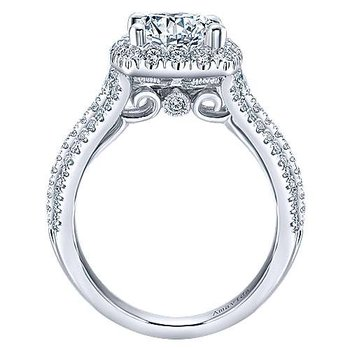 2 1/3ct tw Diamond Halo Engagement Ring in 18K White Gold
