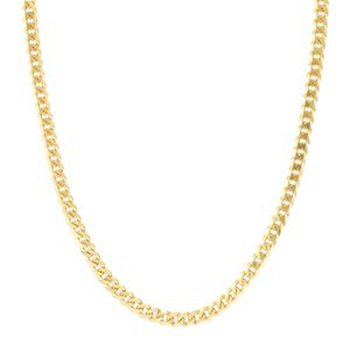 24 Inch Miami Cuban Link Chain in 14K Yellow Gold