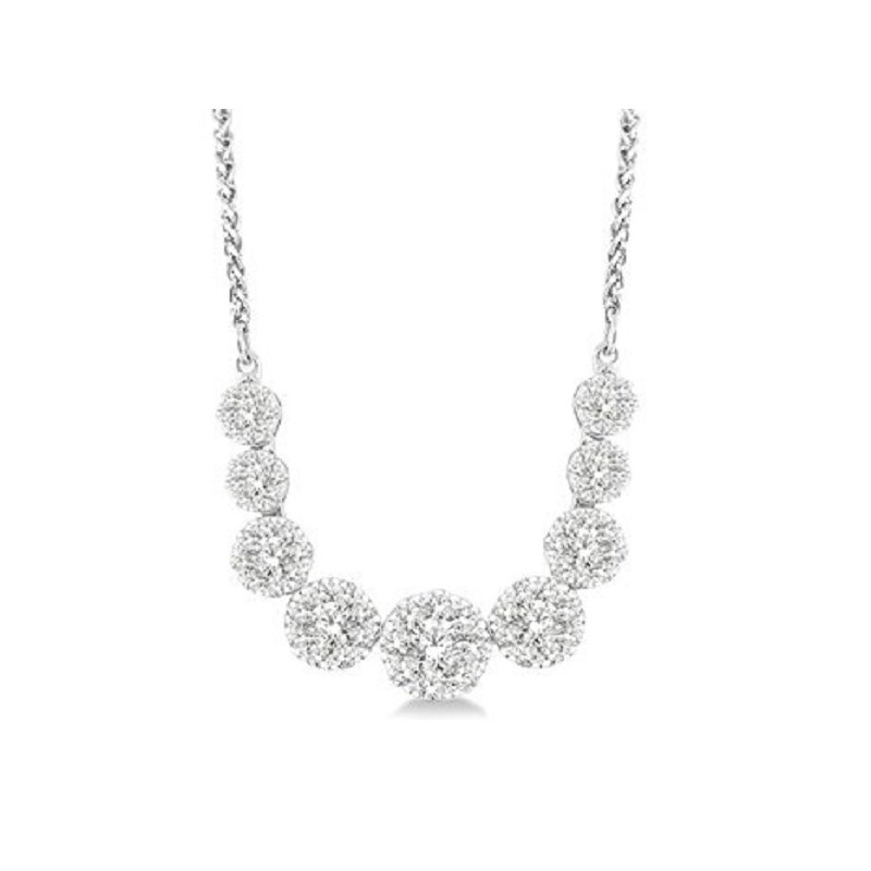 1ct tw Diamond Thousand Points of Light Necklace in 14K White Gold