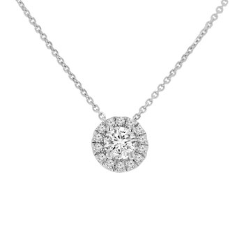 5/8ct tw NewBorn Lab Created Diamond Simply Love Collection Necklace in 14K White Gold