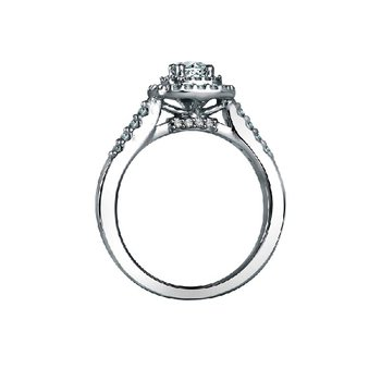 5/8ct tw Diamond WOW Halo Engagement Ring in 14K White Gold