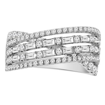 1 1/3ct tw Diamond Fashion Ring in 18K White Gold