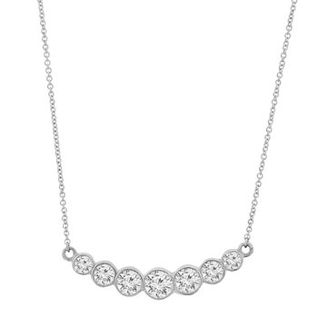 3/4ct tw Diamond Bar Necklace in 14K White Gold