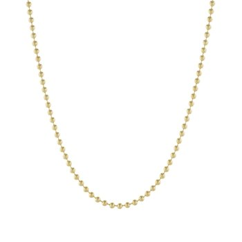 24 Inch Bead Chain in 14K Yellow Gold