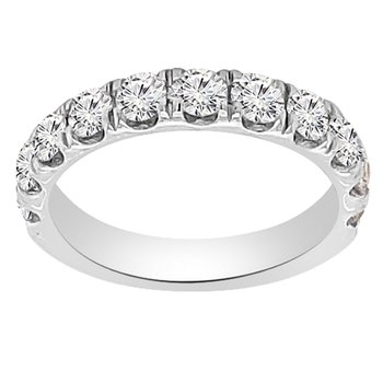 1 1/4ct tw NewBorn Lab Created Diamond Wedding Ring in 14K White Gold