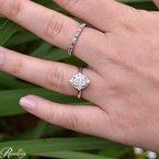 1 1/8ct tw NewBorn Lab Created Diamond Halo Engagement Ring in 14K White Gold