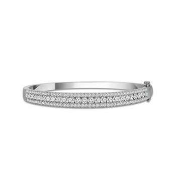 2 1/2ct tw Diamond Bangle Bracelet in 14K White Gold