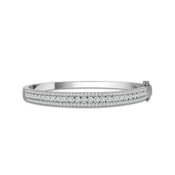 2 1/2ct tw Diamond Bangle Bracelet in 14K White Gold