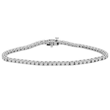 3 1/4ct tw NewBorn Lab Created Diamond Tennis Bracelet in 14K White Gold