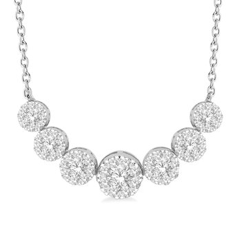 3/4ct tw Diamond Thousand Points of Light Necklace in 14K White Gold