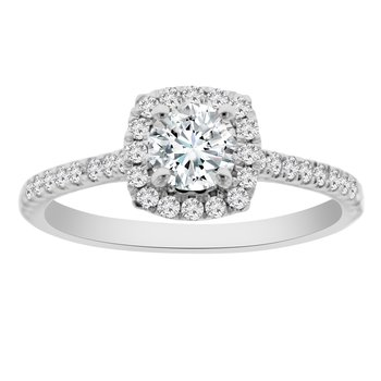 1/2ct tw NewBorn Lab Create Diamond Engagement Ring in 14K White Gold