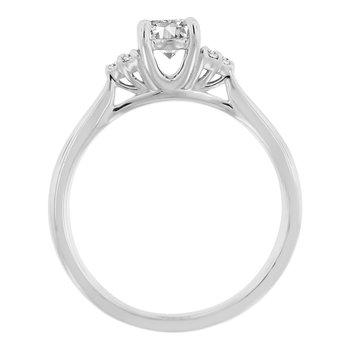 1/2ct tw NewBorn Lab Create Diamond Engagement Ring in 14K White Gold