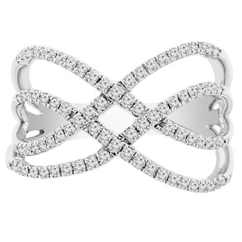 3/8ct tw Diamond Fashion Ring in 18K White Gold