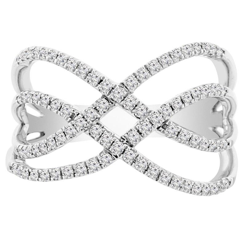 3/8ct tw Diamond Fashion Ring in 18K White Gold